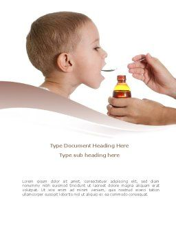 Cough Medicine Word Template Cover Page