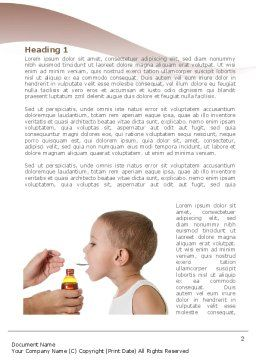 Cough Medicine Word Template First Inner Page