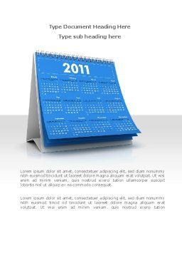 2011 Calendar Word Template, Cover Page, 08321, Holiday/Special Occasion — PoweredTemplate.com