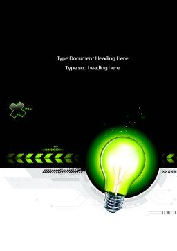 Green Light Schematically Word Template, Cover Page, 08322, Business Concepts — PoweredTemplate.com