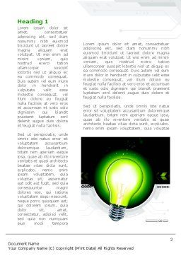 Green Light Schematically Word Template, First Inner Page, 08322, Business Concepts — PoweredTemplate.com
