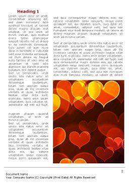Heart Shaped Lights Word Template, First Inner Page, 08324, Holiday/Special Occasion — PoweredTemplate.com