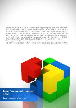 Fitting Pieces Word Template, Cover Page, 08326, Business Concepts — PoweredTemplate.com