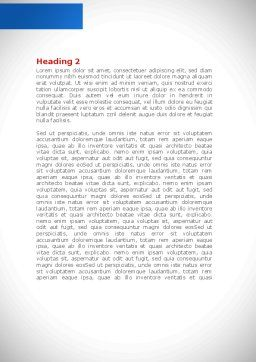 Fitting Pieces Word Template, Second Inner Page, 08326, Business Concepts — PoweredTemplate.com