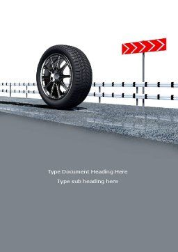 Tire Change Word Template, Cover Page, 08327, Cars/Transportation — PoweredTemplate.com