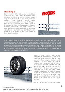 Tire Change Word Template, First Inner Page, 08327, Cars/Transportation — PoweredTemplate.com