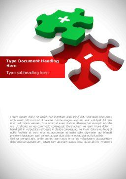 Jigsaw Plus Word Template, Cover Page, 08328, Consulting — PoweredTemplate.com