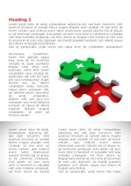 Jigsaw Plus Word Template, First Inner Page, 08328, Consulting — PoweredTemplate.com