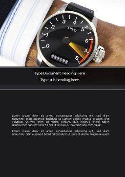 Clock Timer Word Template, Cover Page, 08329, Business Concepts — PoweredTemplate.com