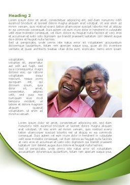 Elderly Spouse Word Template, First Inner Page, 08332, People — PoweredTemplate.com