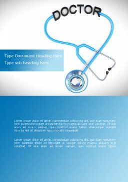 Medical Practice Word Template, Cover Page, 08333, Medical — PoweredTemplate.com