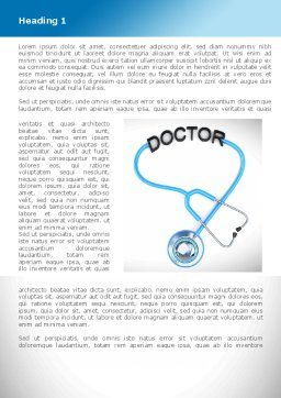 Medical Practice Word Template, First Inner Page, 08333, Medical — PoweredTemplate.com