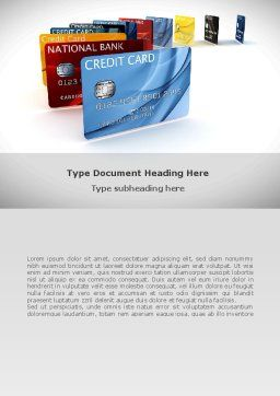 Credit Card For Long Range Payment Word Template, Cover Page, 08334, Financial/Accounting — PoweredTemplate.com