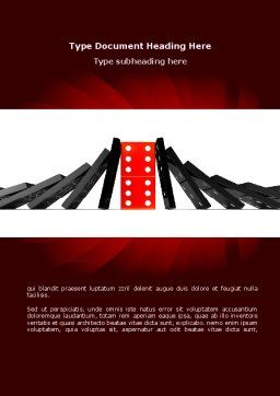 Central Domino Word Template, Cover Page, 08336, Consulting — PoweredTemplate.com