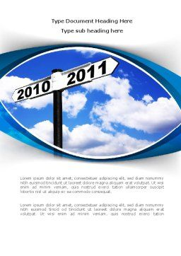 From 2010 to 2011 Word Template Cover Page