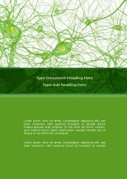 Nervous Tissue Word Template, Cover Page, 08340, Medical — PoweredTemplate.com