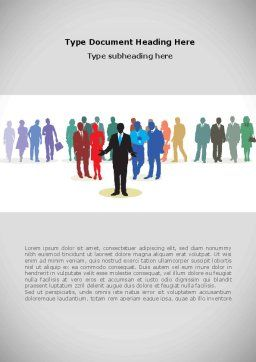 People Diversity Word Template Cover Page
