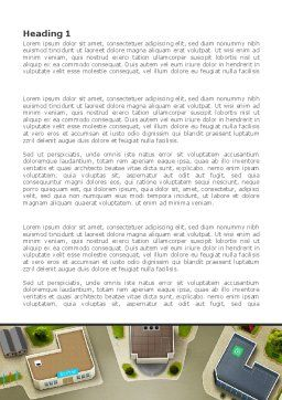 Building Satellite View Word Template, First Inner Page, 08346, Construction — PoweredTemplate.com