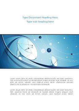 Parabolic Antennas On Masts Word Template, Cover Page, 08348, Telecommunication — PoweredTemplate.com