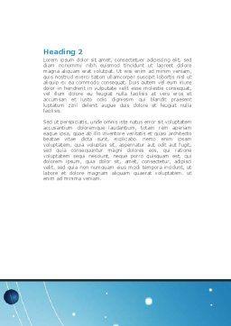 Parabolic Antennas On Masts Word Template, Second Inner Page, 08348, Telecommunication — PoweredTemplate.com