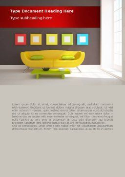 Yellow Couch Word Template Cover Page