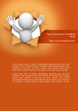 Breaking Through Word Template, Cover Page, 08351, Consulting — PoweredTemplate.com