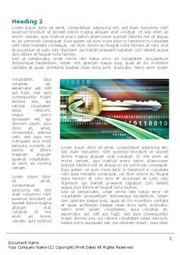 Digital Key Word Template, First Inner Page, 08352, Technology, Science & Computers — PoweredTemplate.com