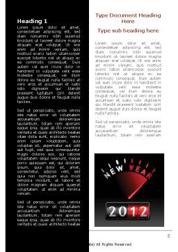 N Yr Speedometer Word Template, First Inner Page, 08353, Business — PoweredTemplate.com