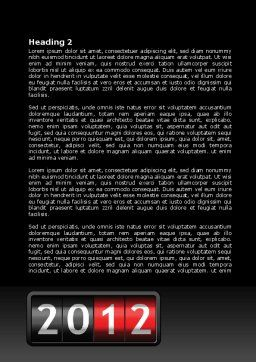 N Yr Speedometer Word Template, Second Inner Page, 08353, Business — PoweredTemplate.com