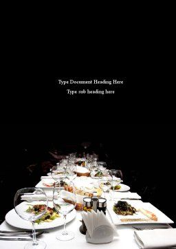 Banquet Table Word Template, Cover Page, 08354, Food & Beverage — PoweredTemplate.com