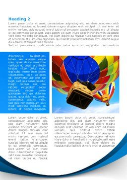 Colorful Air Balloons Word Template, First Inner Page, 08358, Cars/Transportation — PoweredTemplate.com