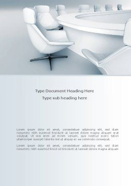 Boardroom Word Template, Cover Page, 08363, Business — PoweredTemplate.com
