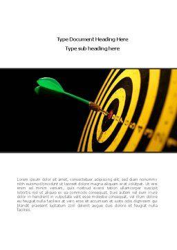 Bullseye Dart Word Template, Cover Page, 08364, Consulting — PoweredTemplate.com