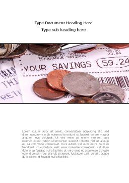 Personal Savings Word Template, Cover Page, 08365, Financial/Accounting — PoweredTemplate.com