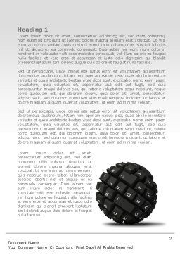 Keyboard Ball Word Template, First Inner Page, 08366, Technology, Science & Computers — PoweredTemplate.com