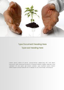 Future Planning Word Template, Cover Page, 08367, Nature & Environment — PoweredTemplate.com