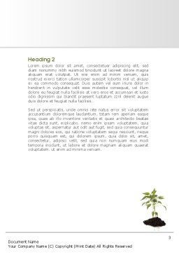 Future Planning Word Template, Second Inner Page, 08367, Nature & Environment — PoweredTemplate.com