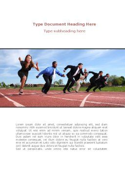 Business Competition Word Template, Cover Page, 08369, Education & Training — PoweredTemplate.com