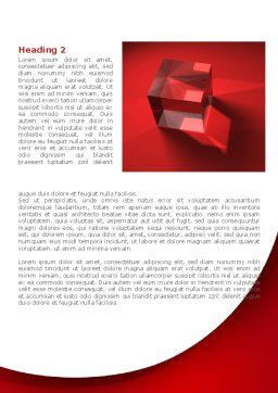 Red Crystal Cube Word Template, First Inner Page, 08372, Business — PoweredTemplate.com