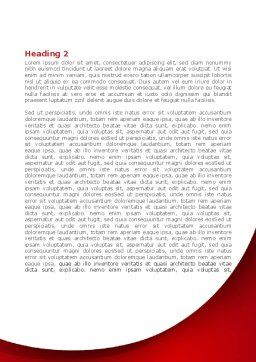 Red Crystal Cube Word Template, Second Inner Page, 08372, Business — PoweredTemplate.com