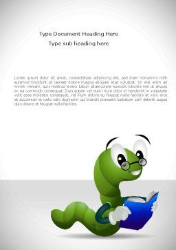 Smart Worm Word Template Cover Page