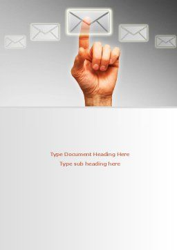 Email Service By Word Template, Cover Page, 08375, Telecommunication — PoweredTemplate.com