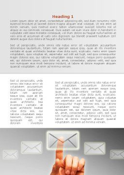 Email Service By Word Template, First Inner Page, 08375, Telecommunication — PoweredTemplate.com