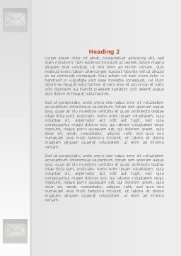 Email Service By Word Template, Second Inner Page, 08375, Telecommunication — PoweredTemplate.com