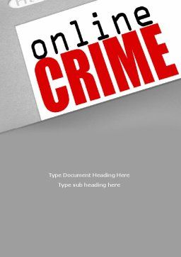 Online Crime Word Template, Cover Page, 08377, Legal — PoweredTemplate.com