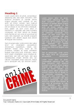 Online Crime Word Template, First Inner Page, 08377, Legal — PoweredTemplate.com