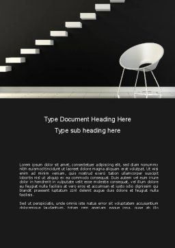 White on Black Word Template, Cover Page, 08378, Business Concepts — PoweredTemplate.com