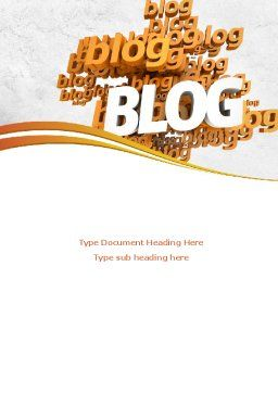 Abstract Blog Word Template Cover Page