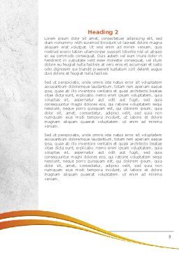 Abstract Blog Word Template, Second Inner Page, 08381, Telecommunication — PoweredTemplate.com