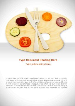 Healthy Diet Word Template Cover Page